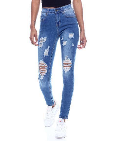 Fashion Lab - High Waist Destructed Skinny Jean
