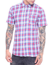 Button-downs - Red Scottish Plaid SS Woven Shirt-2313527