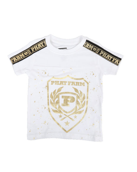 Phat Farm - Foil Printed Crew Neck W/ Shoulder Tape (2T-4T)