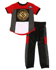 Enyce - Graphic Tee & Jogger Pants Set (8-20)-2311460