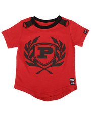 Phat Farm - Solid Crew Neck Scoop Bottom Tee W/ Rubber Patch (2T-4T)-2311773