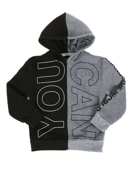 Arcade Styles - You Can Do Anything Split Color Block Hoodie (4-7)