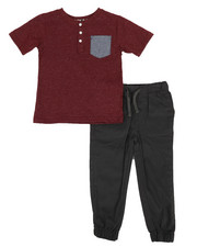 Ben Sherman - 2 Piece Tee & Pants Set (4-7)-2311451