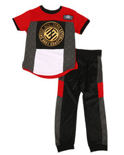 Enyce - Graphic Tee & Jogger Pants Set (4-7)-2311456