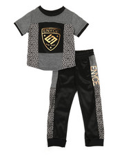 Enyce - Graphic Tee & Jogger Pants Set (2T-4T)-2311476