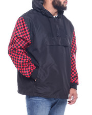 NOTHIN' BUT NET - Anorak Nylon Hoodie/Vans Check Sleeve (B&T)-2313108