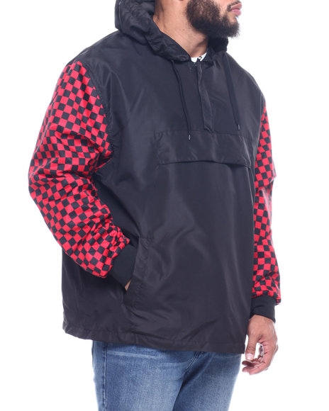 NOTHIN' BUT NET - Anorak Nylon Hoodie/Vans Check Sleeve (B&T)