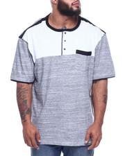 Men - Color Block Henley W/ Chast Pocket + Contrast Trim Accent (B&T)-2313795