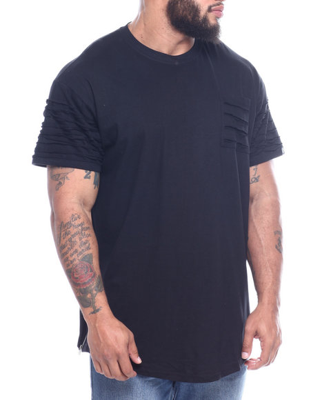Phat Farm - S/S Rip & Repair Scoop Bottom Crewneck Jersey (B&T)