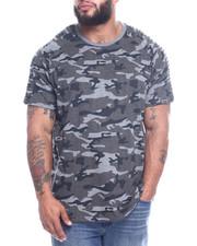 Big & Tall Faves - S/S Raglan Pinktuck Printed Camo Crew Neck Jersey (B&T)-2312619