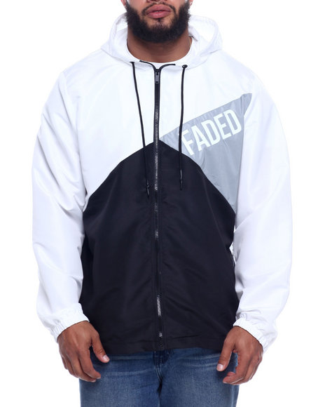 FIVE BY FIVE - Color Blocked Reflective Hoodie (B&T)