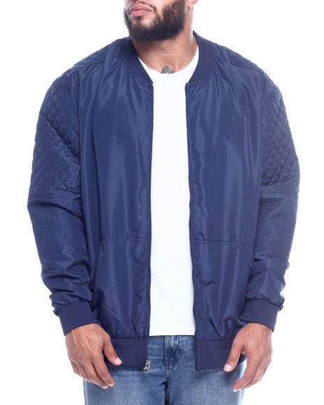 NOTHIN' BUT NET - Zip Front Nylon Bomber/Quilted Sleeve (B&T)