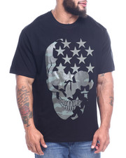 Phat Farm - S/S Printed Camo Skull Crew Neck Jersey-2312599