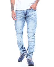 Men - Thigh Zipper Detail Stretch Jean-2313962