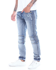 Jeans & Pants - SEAMED KNEE STRETCH MOTO JEAN-2314167