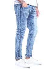 Buyers Picks - SMOKE BLUE RIBBED STRETCH MOTO JEAN-2314197