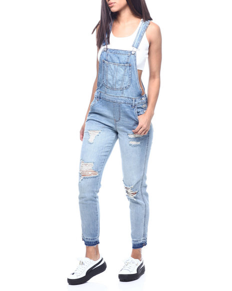 Almost Famous - DISTRESSED DENIM OVERALL