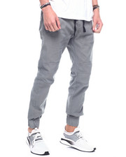 Jeans & Pants - stretch twill side zip jogger-2314820
