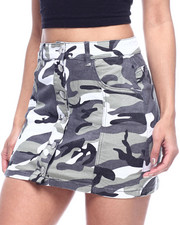 Almost Famous - BUTTON UP FRONT CAMO SKIRT-2314275
