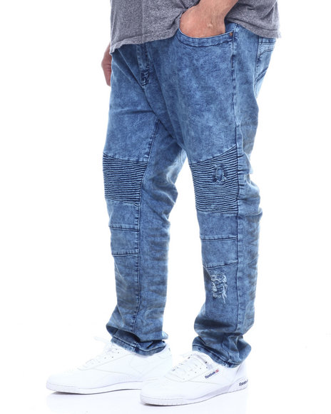 Phat Farm - Fashion Cut & Sew Moto Stretchy Skinny Denim (B&T)