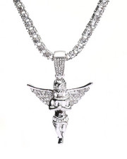 Accessories - Praying Hands Angel Chain Necklace-2316167