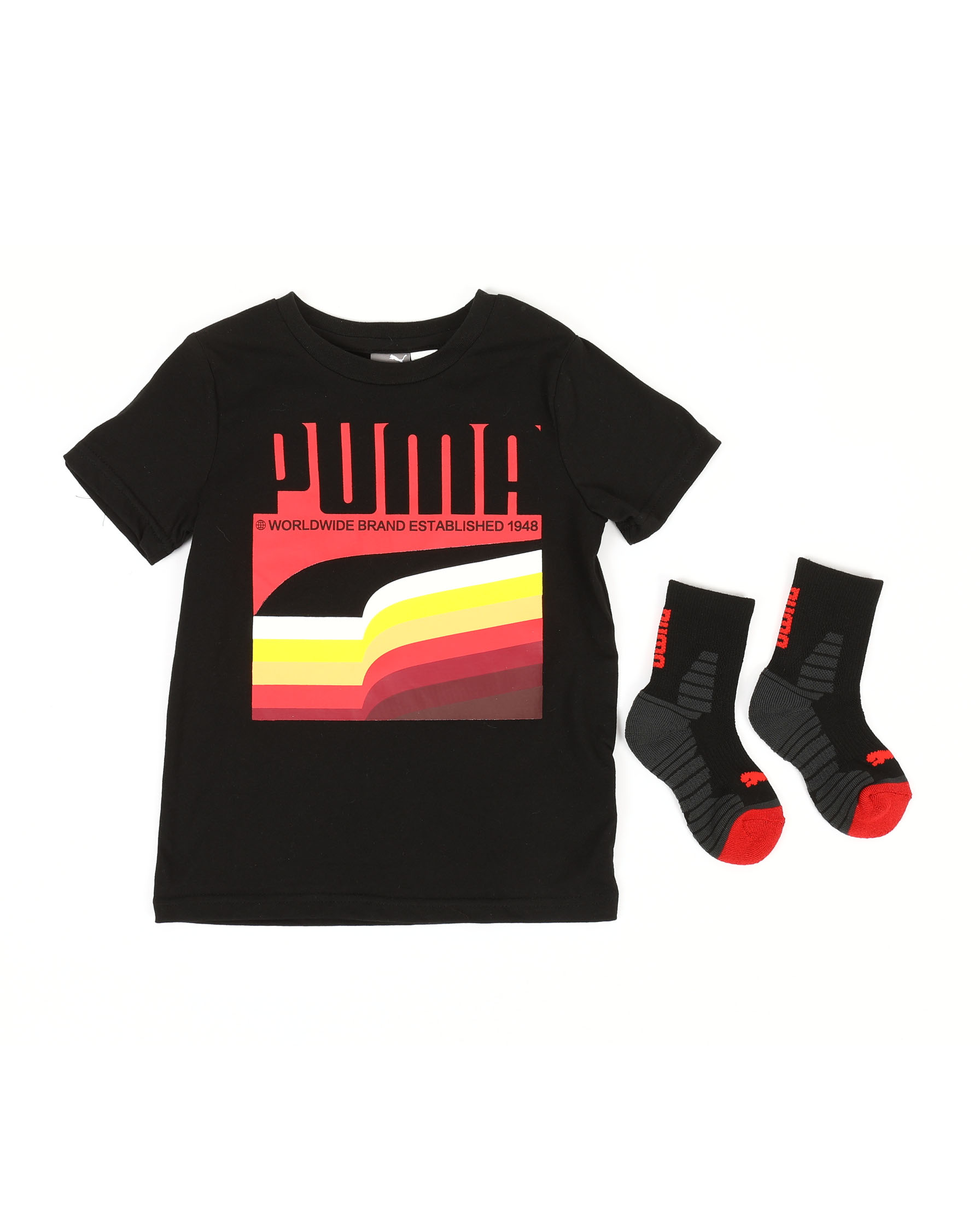 faf25a7325aa Buy Graphic Tee & Sock Set (4-7) Boys Tops from Puma. Find Puma ...