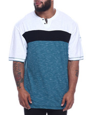 Big & Tall - S/S Color Block Noth Crew Neck Tee (B&T)-2316035
