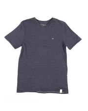 Boys - Solid Logo V-Neck T-Shirt (8-20)-2313207