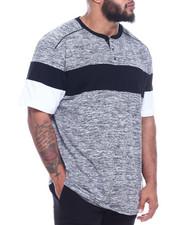Men - Color Block Henley W/ Shoulder Piping Accent (B&T)-2316030