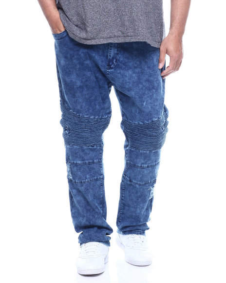Phat Farm - Fashion Cut & Sew Moto Stretchy Skinny Denim (B&T)