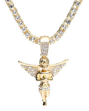 Accessories - Praying Hands Angel Chain Necklace-2316168