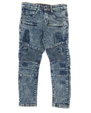 Jeans - Fashion Cut & Sew Moto Stretchy Skinny Denim Jeans (8-20)-2316107