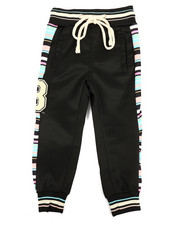 Activewear - Jogger Pants W/ Stripes & Chenille Patch (2T-4T)-2313726