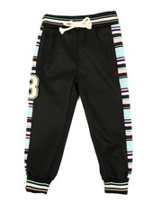 Activewear - Jogger Pants W/ Stripes & Chenille Patch (4-7)-2313721