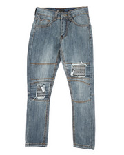 Bottoms - Moto Twill Jeans w/ Patch detail (8-20)-2313737