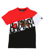Arcade Styles - Color Block Tee W/ Chenille Accents (4-7)-2314043