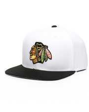 NBA, MLB, NFL Gear - Chicago Blackhawks White Out Snapback Hat-2312743