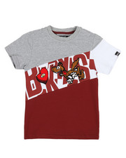Arcade Styles - Color Block Tee W/ Chenille Accents (4-7)-2313985