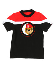 Arcade Styles - Color Block Tee W/ Chenille Patch (2T-4T)-2314083