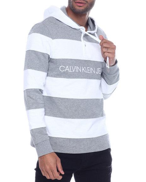 Calvin Klein - COTTON RUGBY Stripe Hoody