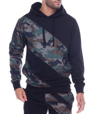 Hoodies - STRIPE COLOR BLOCK TECH HOODY-2316726