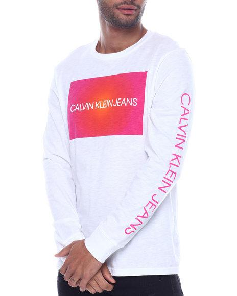 Calvin Klein - ls logo box spotlight tee