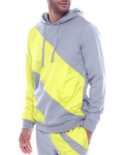 Hoodies - STRIPE COLOR BLOCK TECH HOODY-2316732