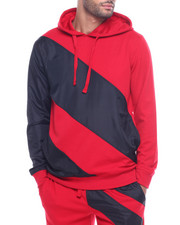 Hoodies - STRIPE COLOR BLOCK TECH HOODY-2316715