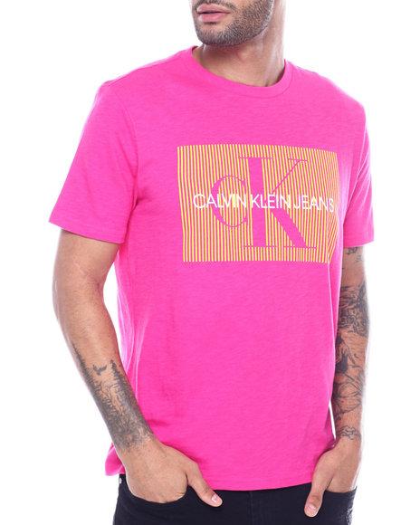 Calvin Klein - gradient stripe box logo tee