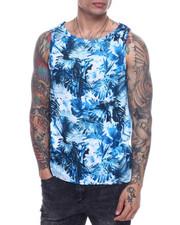 Shirts - Cyan floral tank-2317993