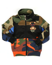 Activewear - Camo Print Track Jacket W/ Embroidery Patch (2T-4T)-2313766