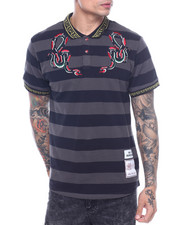 Short-Sleeve - SERPENT STRIPED POLO-2317942