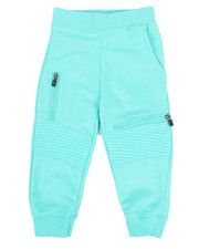 Boys - Marled Moto Sweatpants (2T-4T)-2316223