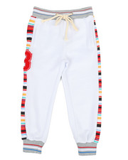 Activewear - Jogger Pants W/ Stripes & Chenille Patch (4-7)-2313716